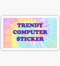 TRENDY COMPUTER STICKER TYE DYE  Sticker