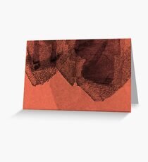 Cool, unique modern red black abstract painting art design Greeting Card