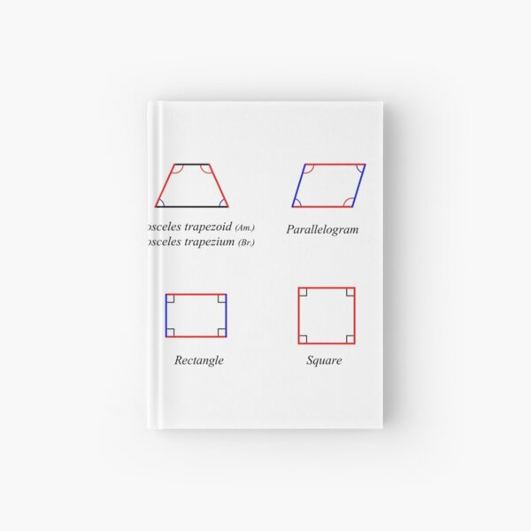 Geometric shapes: CIRCLE, NONAGON, RHOMBUS, ACUTE, ELLIPSE, RIGHT, PARALLELOGRAM, KITE, Decagon Hardcover Journal