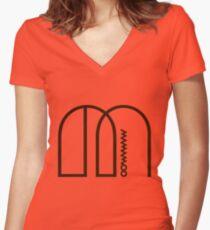 Camiseta entallada de cuello en V MAMAMO Derretimiento