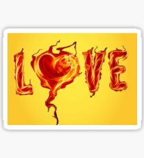Burning love Sticker