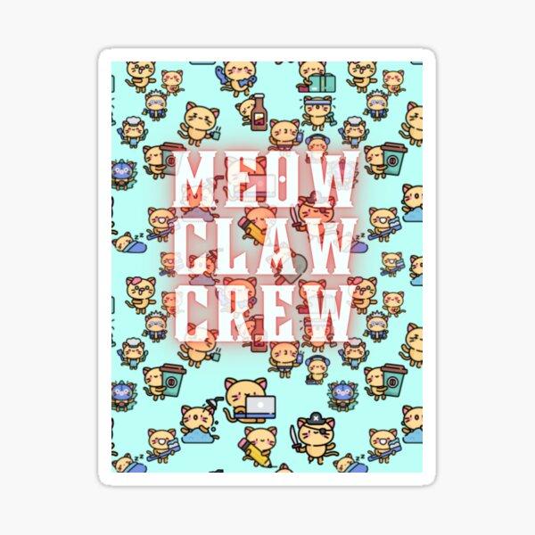 Meow Claw Crew Sticker