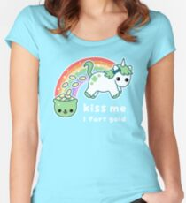 St. Patrick's Day Unicorn Women's Fitted Scoop T-Shirt