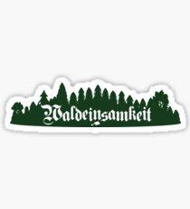 Waldeinsamkeit Sticker