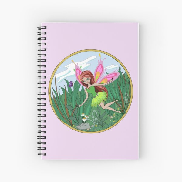 Fairy and Butterfly Spiral Notebook