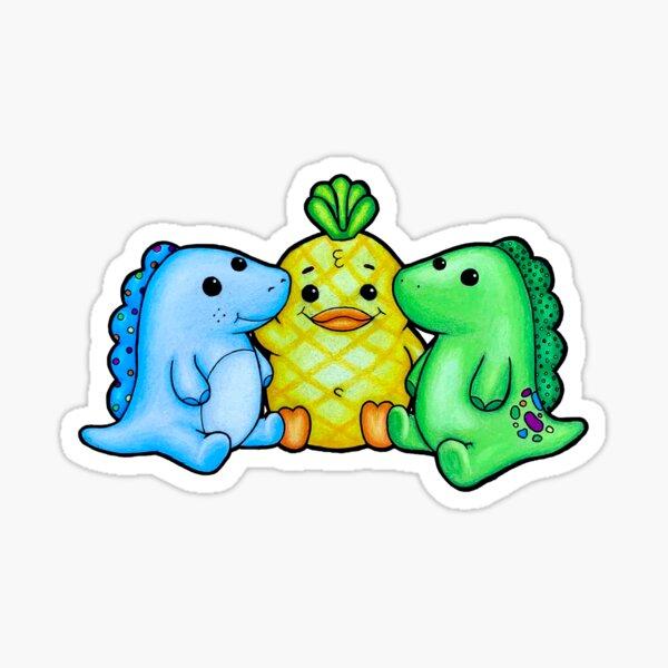 Moriah Elizabeth Cousin Derp, Georgie, & Pickle Drawing Sticker