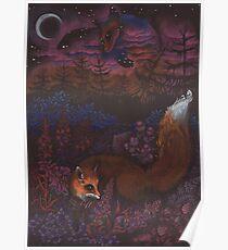 Twilight Fox Poster