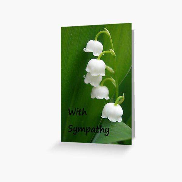 Lily of the Valley Sympathy Card Greeting Card