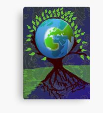 geni tree logo Canvas Print
