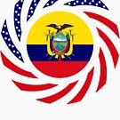 Ecuadorian American Multinational Patriot Flag Series by Carbon-Fibre Media