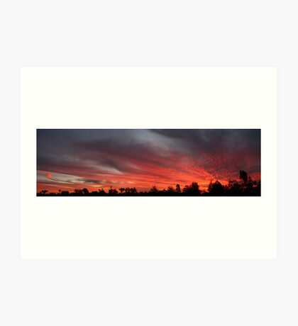 Sunset at Garah panorama Art Print