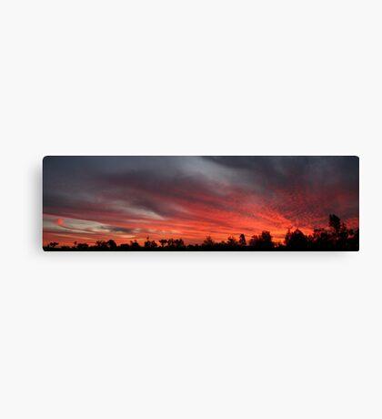 Sunset at Garah panorama Canvas Print