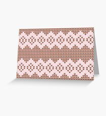 Brown and Pink Knit  Greeting Card