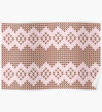 Brown and Pink Knit  Poster