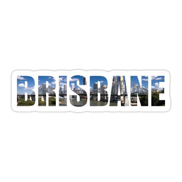 quot brisbane quot stickers by obercostyle redbubble brisbane australia skyline vinyl wall art stickers decal
