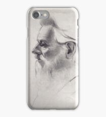 """The old man thinks"" - original pencil drawing on paper iPhone Case/Skin"