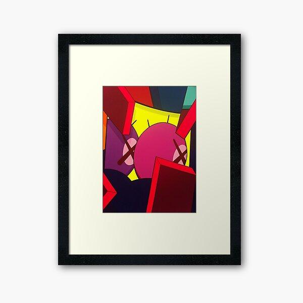 pink purple kawss eyes Framed Art Print