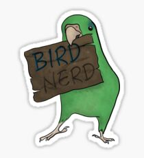 Bird Nerd (Green) Sticker