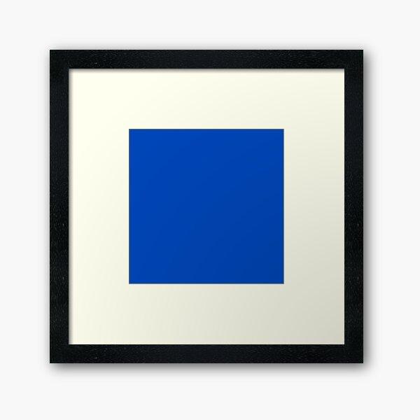 Chroma Blue Key  Framed Art Print