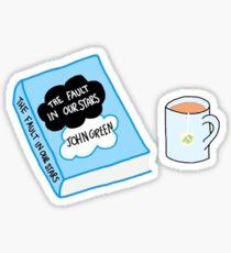 Book and Tea Sticker