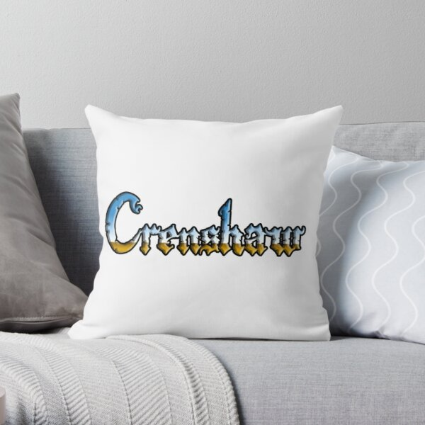 Crenshaw Chrome style Throw Pillow