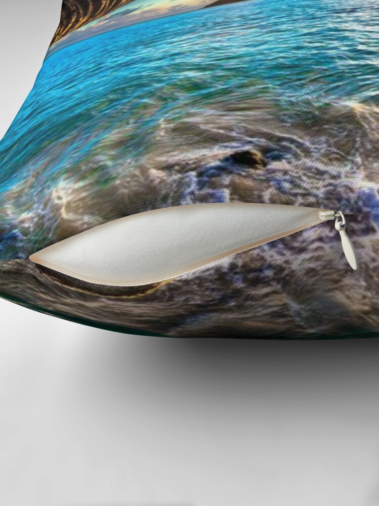 Alternate view of Seaside  Throw Pillow