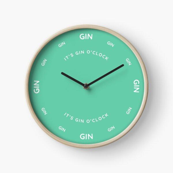 It's Gin O'Clock Aqua Marine Clock