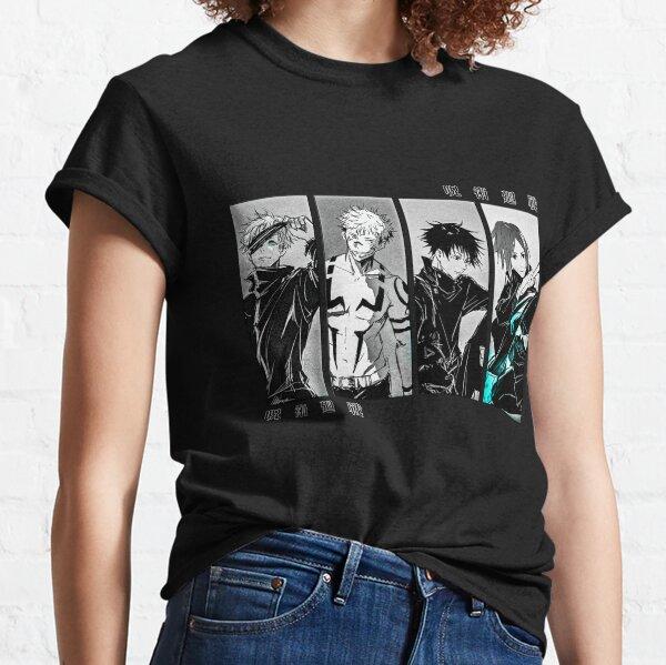 Jujutsu Kaisen Characters × Satoru Gojo, Megumi Fushiguro, Yuji Itadori, Nobara Kugisaki Classic T-Shirt