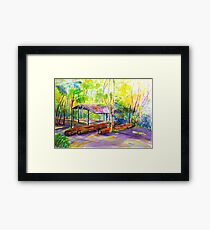 Currumbin , Cougals, Old timber Mill [Watercolour ] Framed Print
