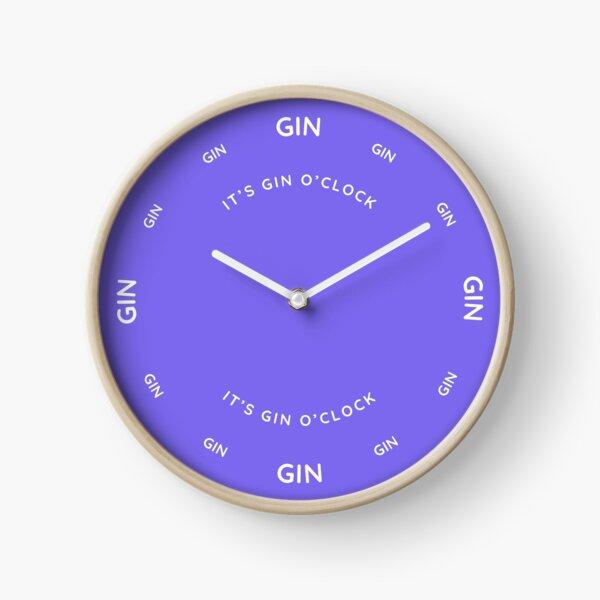 It's Gin O'Clock Slate Blue Clock