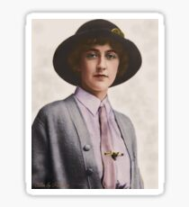 A Young Agatha Christie Sticker