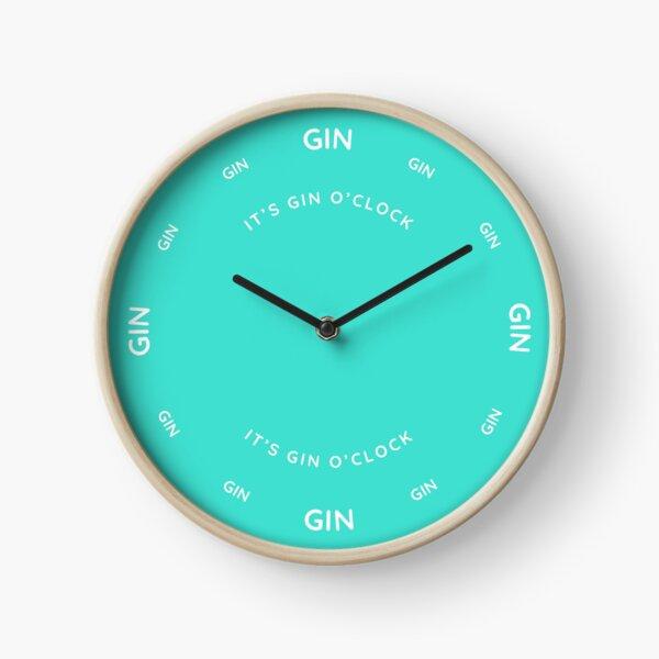 It's Gin O'Clock Turquoise  Clock