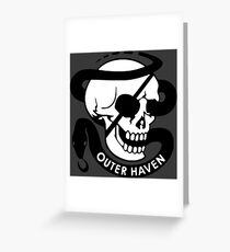 MGS - Outer Haven Skull Greeting Card