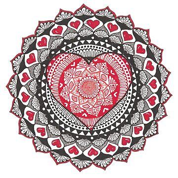 Heart Mandala by rkrishnappa