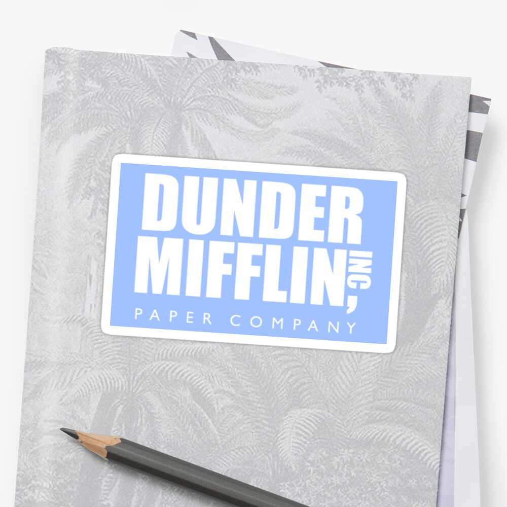 PegatinaThe Office Dunder Mifflin Paper Company Delante