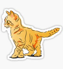 Orange Tabby Kitten Graphic Sticker