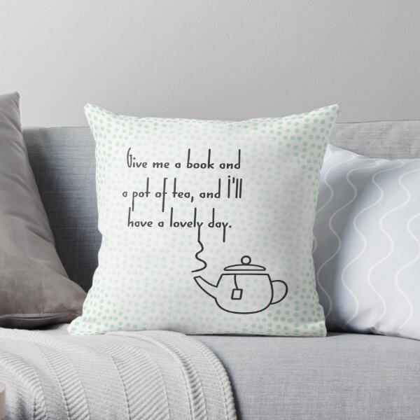 Pot of Tea Throw Pillow