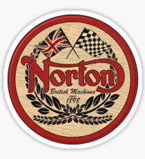 Norton - distressed sign Sticker