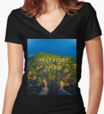 adventure spirit Women's Fitted V-Neck T-Shirt