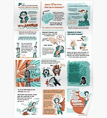 Aspergers Comic Poster Poster