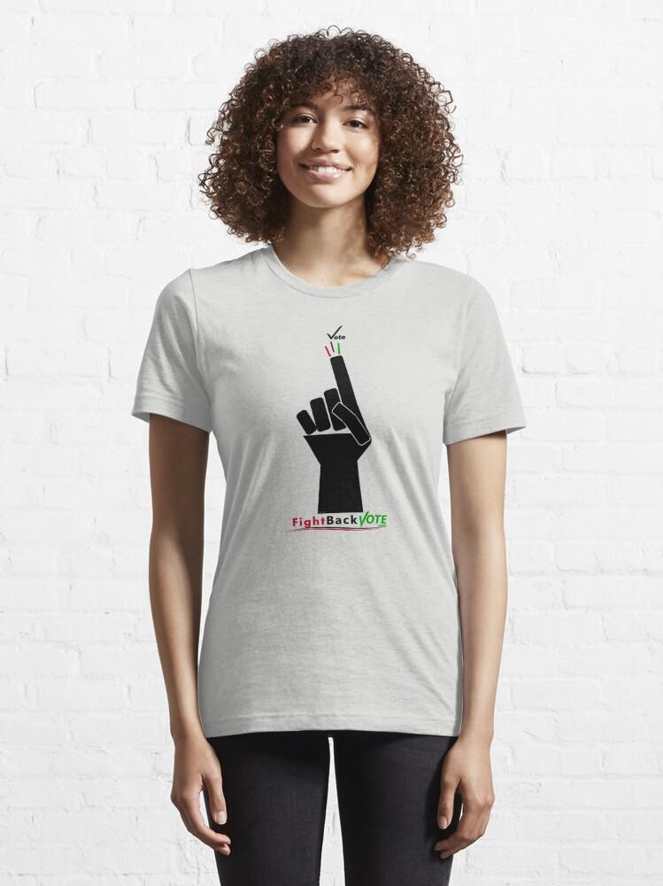 Alternate view of FIghtBackVote.com3 Essential T-Shirt