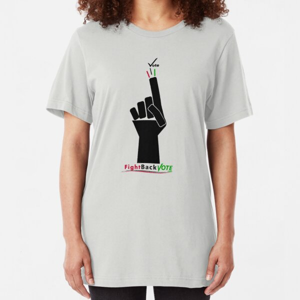 FIghtBackVote.com3 Slim Fit T-Shirt