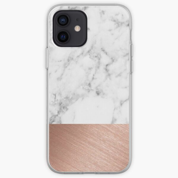 Rose Gold Marble iPhone Soft Case