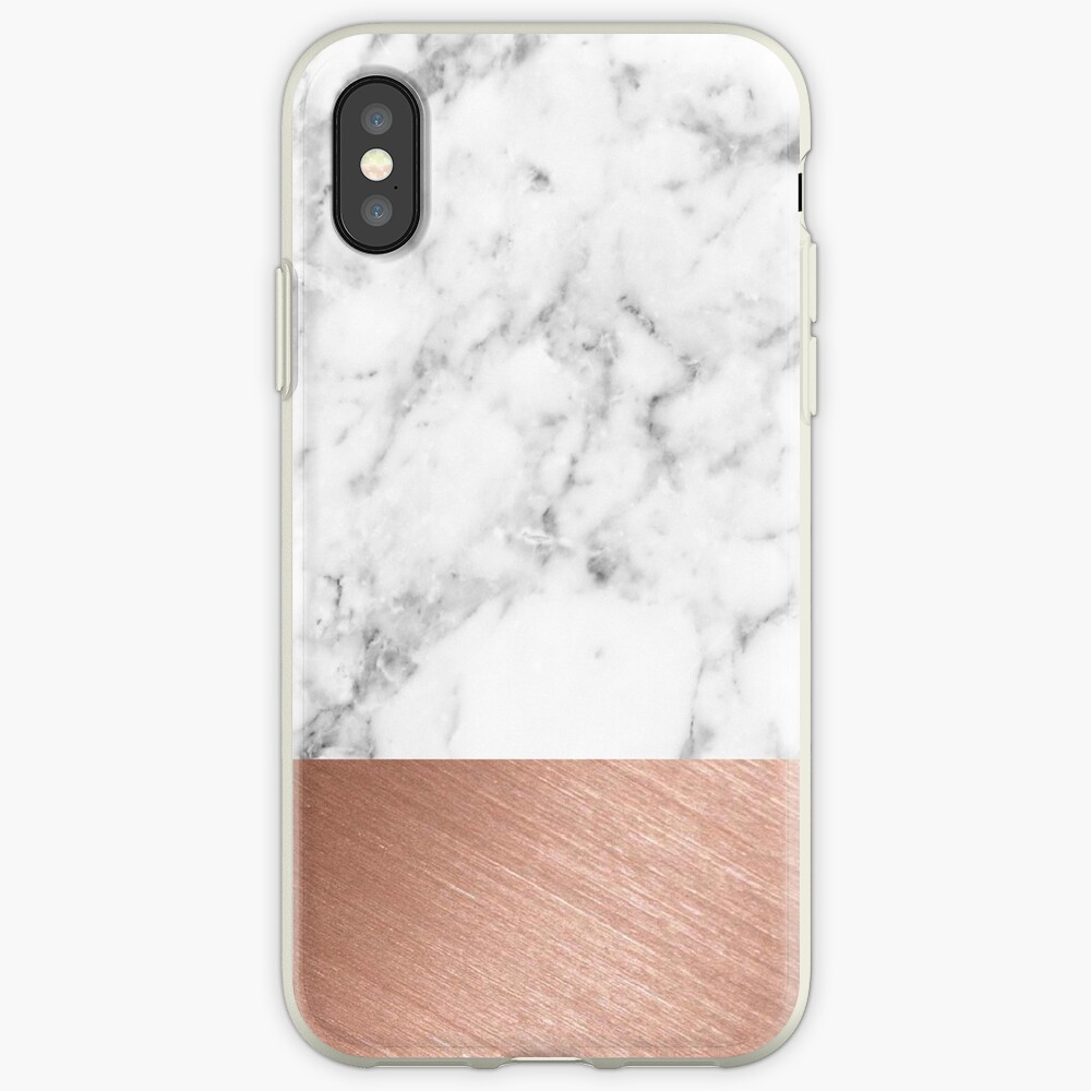 Rose Gold Marmor iPhone-Hülle & Cover