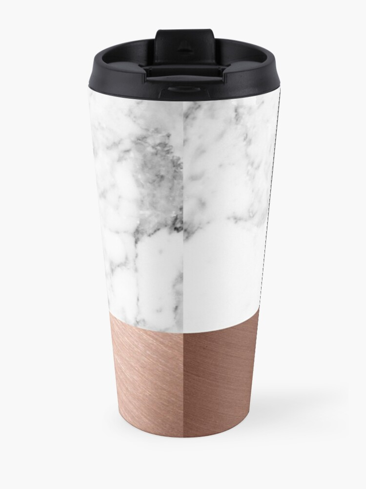 Alternate view of Rose Gold Marble Travel Mug