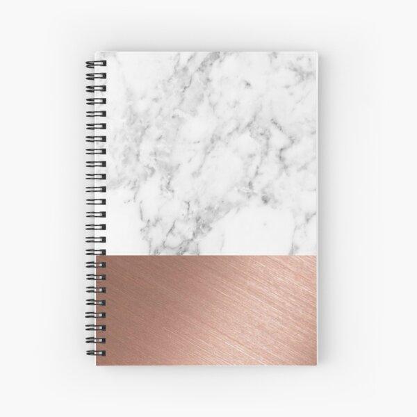 Rose Gold Marble Spiral Notebook