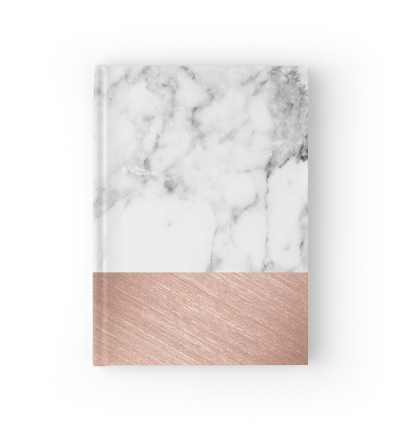 u0026quot rose gold marble u0026quot  hardcover journals by girlsbiteback