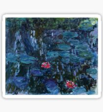 Nymphéas reflets de saule 1916-19 Monet Fine Art Sticker