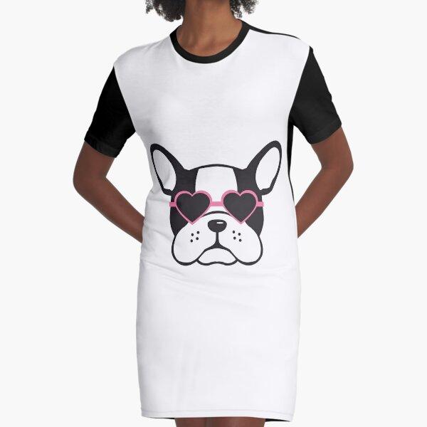 French bulldogs Graphic T-Shirt Dress