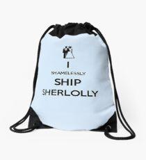 Shamelessly Ship Sherlolly Drawstring Bag